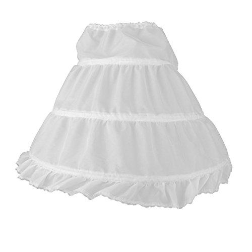 WINOMO WINOMO Mädchen Petticoat Unterrock Reifrock,Weiß, 18,5 Zoll