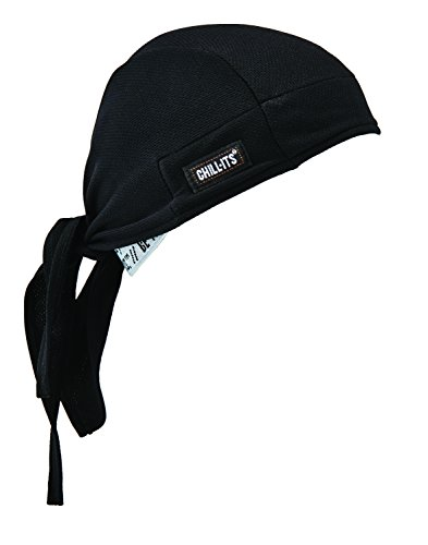 Ergodyne Chill-Its 6615 Dew Rag, Moisture-Wicking, Sweat Absorbing Headband, Black
