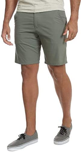 Wrangler Army Green Outdoor Performance Straight Fit at Knee Flex Flat Front Shorts