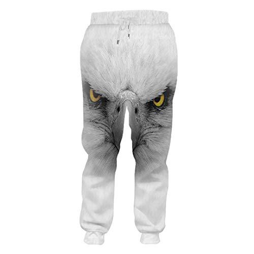 Patrón Hombre de Nueva Impresas en 3D de Sharp con la Boca Águila Pantalones de Gran tamaño Feroz Animal...