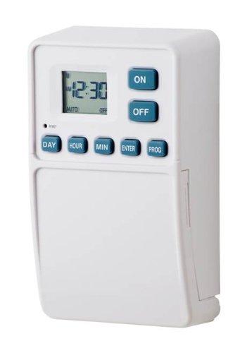 Westek TMDW50 Battery Powered Wall Switch Timer, White