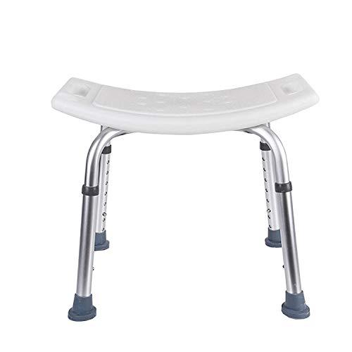 BMOT 38-53cm Höhenverstellbar Duschhocker Duschstuhl,Badsitz Duschhilfe,belastbar bis 136 kg,für Senioren Schwangere