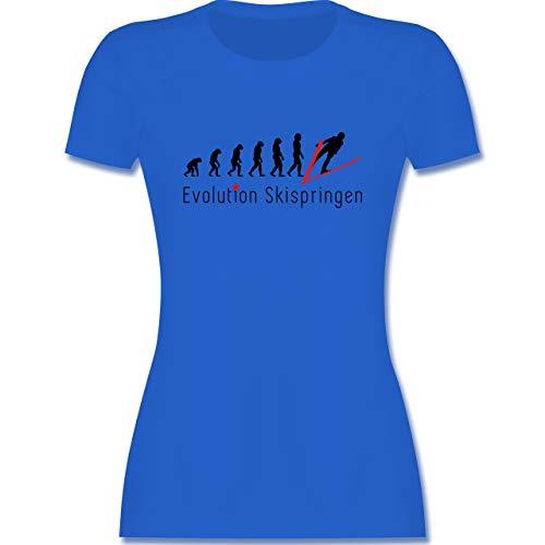Evolution - Skispringen Evolution - L - Royalblau - Mann - L191 - Tailliertes Tshirt für Damen und Frauen T-Shirt