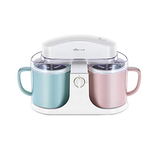 Twin Bowl Ice Cream Machine,Eismaschine, auch für Milchshakes und Sorbets,Weiß