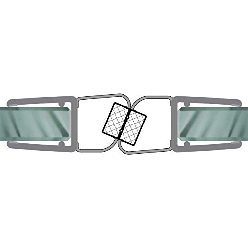 Magnetdichtungen 180° Magnetprofil Steckprofil Duschdichtung Glasdusche 1 Set für Glasstärke 5-8 mm