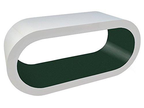 Zespoke Design Blanc Brillant et Mat Olive Verte Table Basse Cerceau en Différentes Tailles