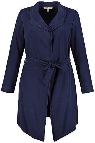 Ulla Popken Damen große Größen Trenchcoat Nachtblau 42/44 727357 79-42+
