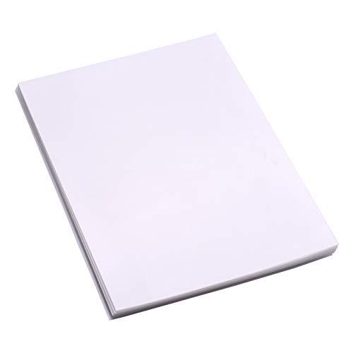 Festnight 25 Blatt durchscheinendes bedruckbares Schrumpffolien-Kit Schrumpfkunst-Kunstpapier Papier Schrumpffolien können für Tintenstrahldrucker für DIY-Anhänger gedruckt werden Schlüsselanhänger