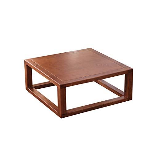 C-J-Xin kleine tafel met balkon, massief in Japanse stijl houten salontafel tatami slaapkamer bed bureau studie tafel voor 2-4 personen geschikt ruimte besparen