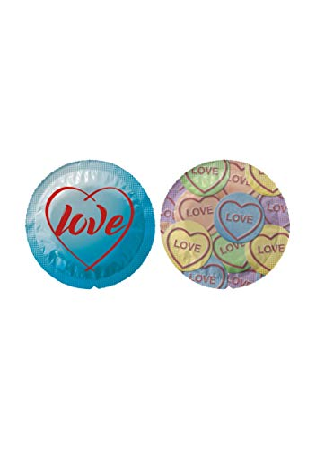 EXS Condooms Exs Themed Love Hearts - 100 pak, 1,3 kg