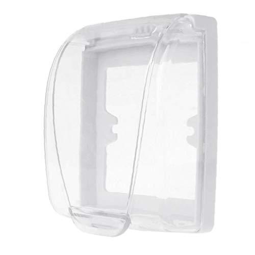 Pared de plástico impermeable cambiar la cubierta del tirón la caja de pared de la luz del panel del zócalo timbre claro de la cubierta del casquillo de baño accesorios de cocina