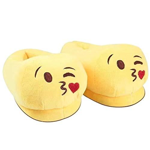 Hausschuhe Slipper Pantoffeln Damenwinter Hausschuhe Männer Schuhe Warm Soft Indoor Hausschuhe Männer Plüsch Schuhe Cute Funny Poop Home Wohnungen rutschfeste Raumrutschen Paar 45 Kuss