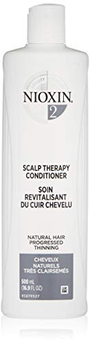 Nioxin System 2 Scalp Therapy Conditioner for Natural Hair with Progressed Thinning, 16.9 oz