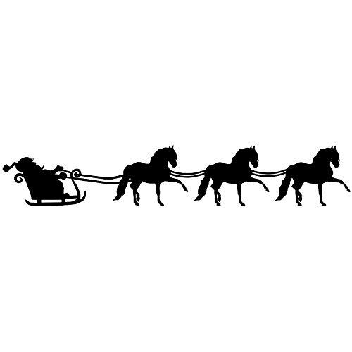 Staalafbeeldingen Andalusische Paard Santa Sleigh
