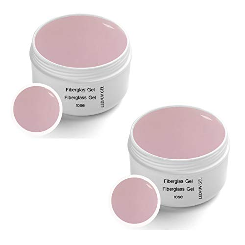 2 x 30 ml UV Fibreglass Rosa transparente - Linea Premium Gel - finitura, corporatura, adesivo – Top Coat – Monofase Gel