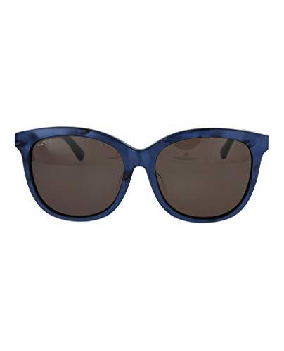 Gucci GG0082SK 005 Occhiali da Sole, Blu (Bluee/Brown), 56 Unisex-Adulto