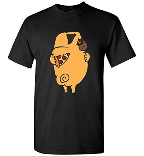 Sumito Self Love Pug Camiseta Personalizada, camiseta negra, M