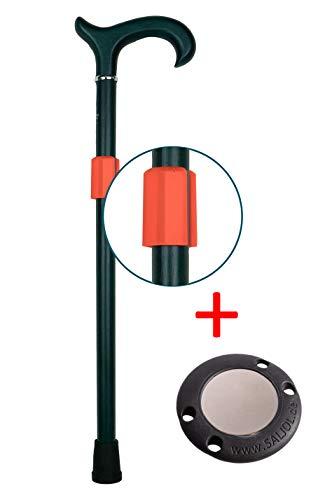 Magnetischer Gehstockhalter HELD (neonorange) und TALER von SALJOL, Krücken geparkt
