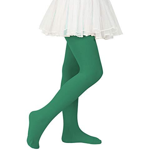 Girls Ballet Dance Tights for Toddler Soft Tights Baby Leggings Infant Elastic Dance Tights for Girls Dark Green 1-3T