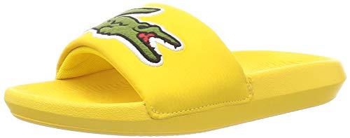 Lacoste Damen Croco Slide 120 2 Us Cfa Sneaker, Gelb (YLW/Grn P1g), 36 EU