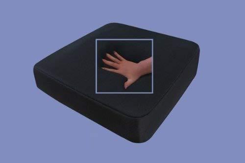Supply24 Gel/Gelschaum Sitzkissen Anti Dekubitus Sitzpolster 40 x 40 x 10 cm Schwarz Memory Schaum für Rollstuhl Stuhl Auto LKW Bürostuhl Chefsessel Kissen Stützkissen Rücken und Gesäß (RG 60 weich)
