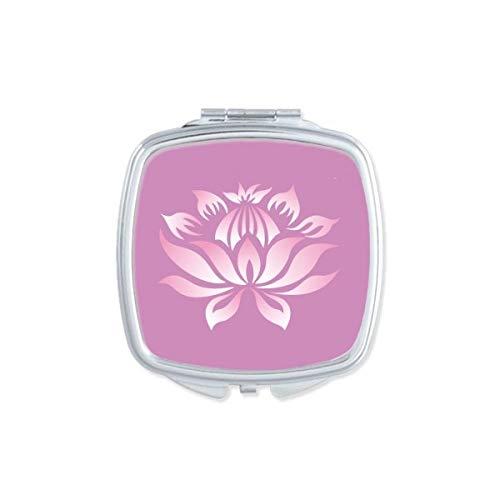 DIYthinker Plante Fleur Lotus Fleur Rose Motif carré Miroir de Maquillage Compact Portable Mignon Miroirs de Poche à la Main Cadeau Multicolore