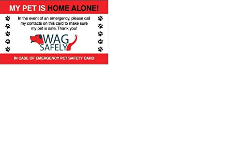 WagSafely Pet Home Alone Emergency Wallet Cards (Set of 5)