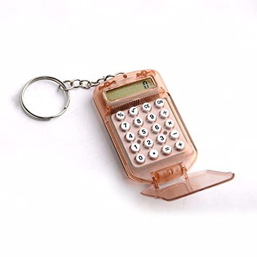 LEGU Calculadoras Básicas Calculadora Básicas para La Escuela De Oficina Mini Calculadora De Flip Calculadora Colgante Llavero (Colores Aleatorios) Calculadoras