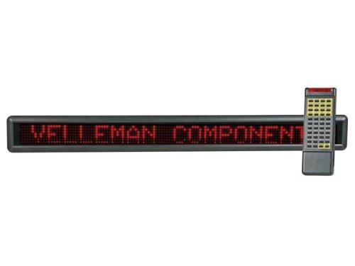 Preisvergleich Produktbild VELLEMAN - MML24R Laufschrift,  7 x 120 LEDs,  Rot 144513