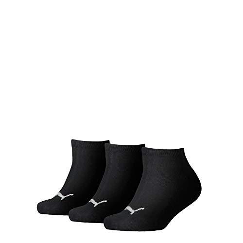 PUMA Jungen Kids Invisible 3p Sportsocken, Schwarz (Black 200), 0-3 Monate (Herstellergröße: 31/34) (3er Pack)