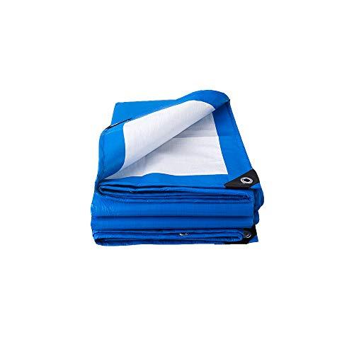 Tarp Heavy Duty Camping Tent Tarpaulin Thick 3m x 4m 9ft x13ft PE Tarpaulin Waterproof Blue and white combination/tarp Sheet Premium Quality Cover Tarp for Outdoor Camping (5 x8m)