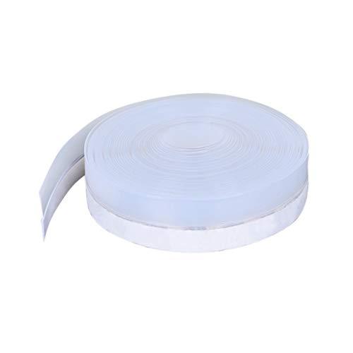 Cinta de sellado de silicona para puerta inferior, transparente, resistente al agua, al viento, al polvo, resistente a la intemperie, a prueba de insectos, a prueba de insectos, blanco
