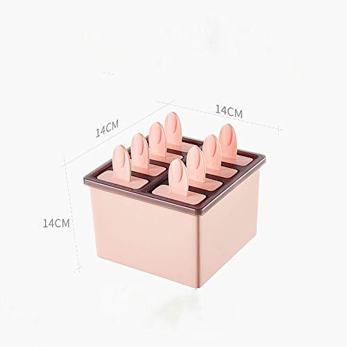 IJsblokjesvorm om zelf te maken, herbruikbaar, ijsschimmel, ijsschimmel, creatieve ijskist voor thuis en kinderen, met pop-vormen Pink-8pcs
