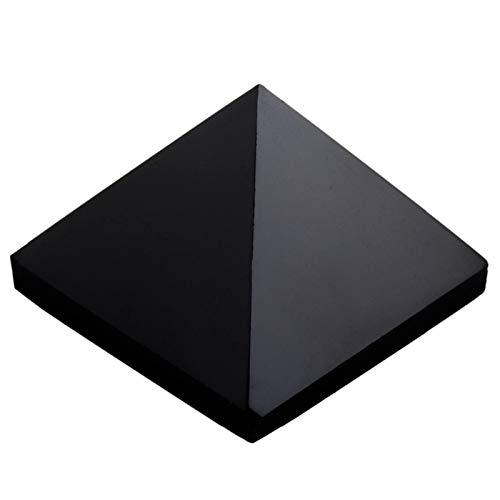 ZTTT Schwarze Achat Pyramide Figur Dekoration Edelsteinstein (Color : 2 Pc)