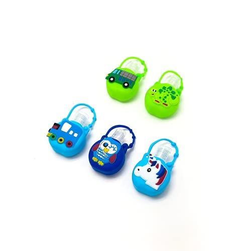 5 Botes dispensadores de Gel 30ml para niños, diseño Infantil. Botes de Gel pequeños, Recargables, Ideales para Colgar y...