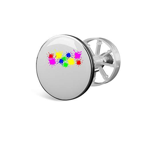 SPIRITSHIRTSHOP Farbspritzer farbkleckse Farbe Farbe stumpf | Waschbecken Universal Stöpsel Abfluss Waschbeckenstöpsel Plug | hochwertige Qualität