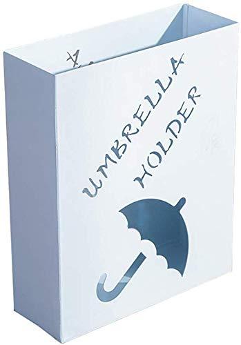 YLXBH Porte-Parapluie rectangulaire en métal, Porte-Parapluie pour Canne à Canne pour résidence hôtelière (Couleur: Blanc)