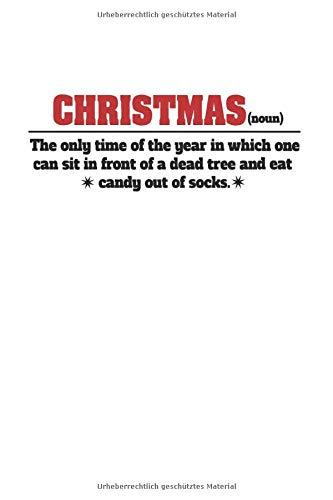 Notizbuch: Anti Weihnachten Synonym Ugly Christmas Geschenke 120 Seiten, 6X9 (Ca. A5), Punktraster