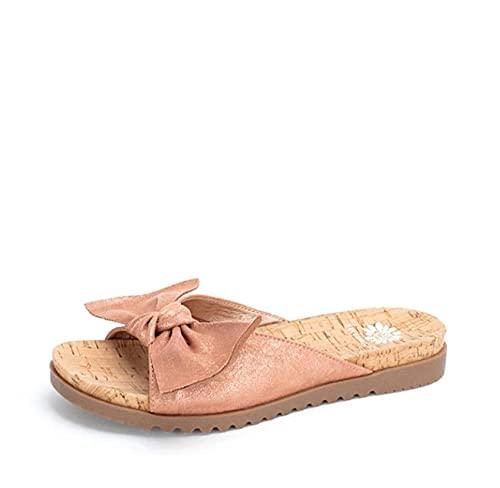 ypyrhh Zapatilla de Plataforma con cuña para Mujer,Sandalias de Mujer Silvene, Tacones Bajos Transpirables-Pink_43,Zapatillas de Estar por Casa de Mujer/Hombre