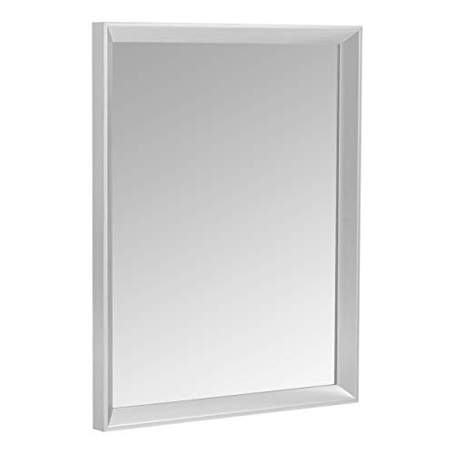 AmazonBasics Rectangular Wall Mirror 16quot x 20quot  Peaked Trim Nickel