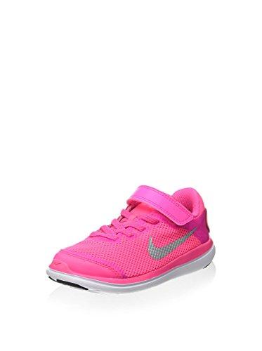 Nike Flex 2016 RN (PSV), Zapatillas de Running Niñas, Rosa (Pink Blast/Metallic Silver-Black), 34