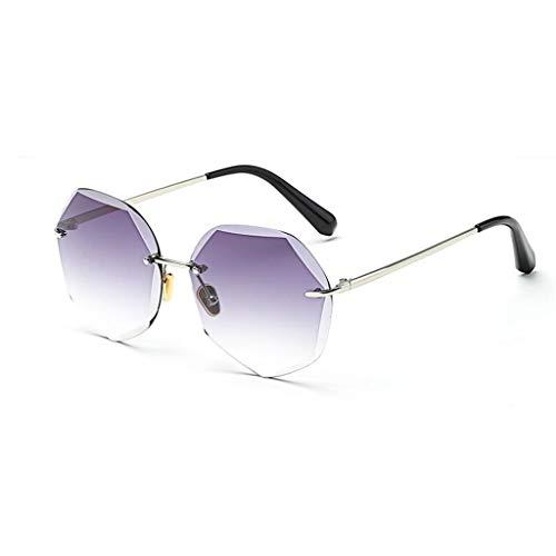 Yayan Gafas de Sol Decorativas Espejo Movimiento Cara Redonda Beat Viaje Ultraligero Luz Polarizada Personalidad Reflexiva Moda Vintage Anti-UV400 (Color : 3)