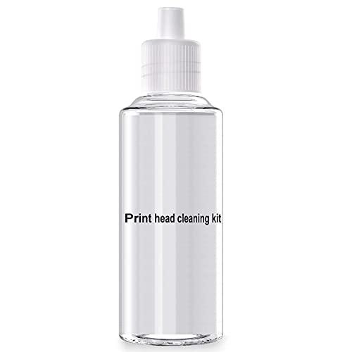 Teland Kit de limpieza de cabezales de impresión, solución de limpieza de cabezales de impresora, limpiador de boquillas, compatible con Epson/HP/Canon/Brother/Lexmark/Samsung Inkjet Impresora 100ml