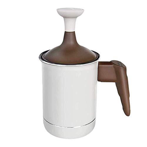 Montalatte in Acciaio Inox a Doppia Maglia del Latte Frother, Latte Frother brocca di Fantasia caffè Crema di caffè schiumatore Creamer for Cappuccinos caffè Latte WTZ012