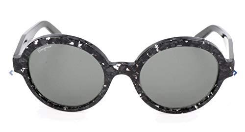 Ferragamo SF878S ronde zonnebril 55, groen
