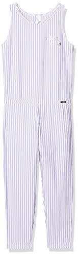Skiny Mädchen Jump Suit 3/4 lang Cosy Night Sleep Girls Einteiliger Schlafanzug, Mehrfarbig (Lilac Stripe 2725), (Herstellergröße:164)