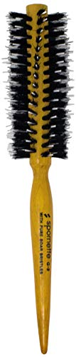 """Spornette Porcupine Round Brush (G-9) - Natural Boar Bristle 1 ¾"""" Diameter. Tail Handle For Parting, Curling and Styling All Hair Types"""