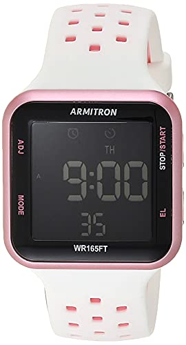 Armitron Sport Unisex 40/8417 Reloj de correa de silicona con cronógrafo digital