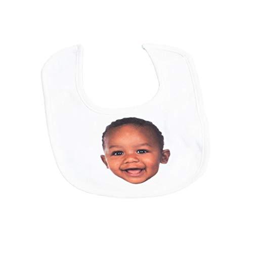 Nifty Gifty Babero de bebé personalizado | Babero personalizado con tus propias fotos | Babero personalizado para bebé regalos de fotos para mujeres y hombres - Añade tu foto