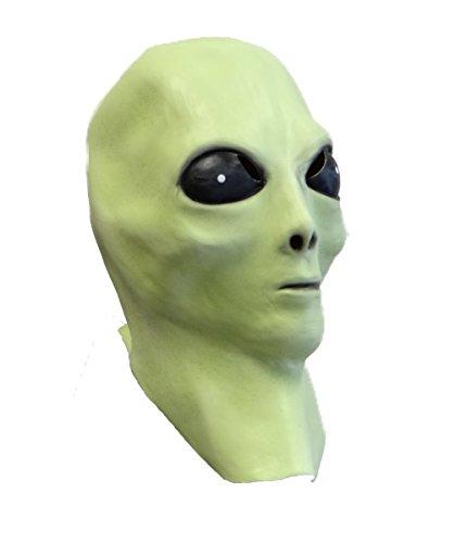 Rubber Johnnies TM Masque Latex Alien (luit dans Le Noir) déguisement OVNI Extra-terrestres cinéma